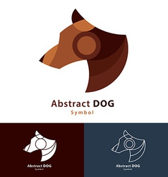 Abstract Dog vector image