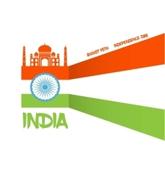 abstract flag for Indian independence day vector image