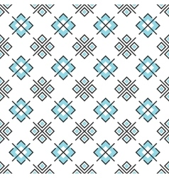 Abstract seamless pattern with geometric elements vector