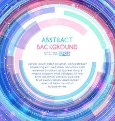 Abstract technology circle vector image