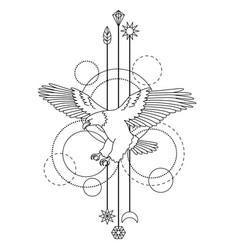 Bald eagle tattoo vector