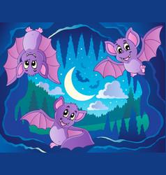 Bats theme image 2 vector