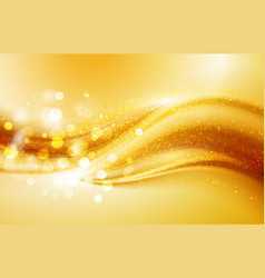 Beautiful gold satin drapery background soft vector