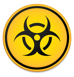biohazard symbol sign vector image