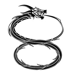black dragon 0001 vector image