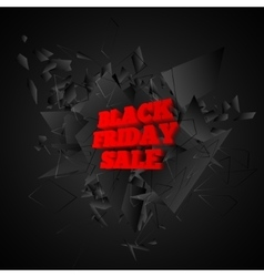 Black friday sale banner Abstract black explosion vector image