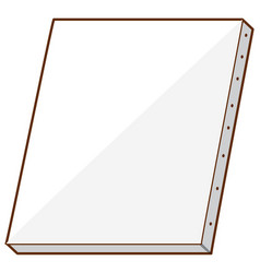 Blank canvas on white background vector