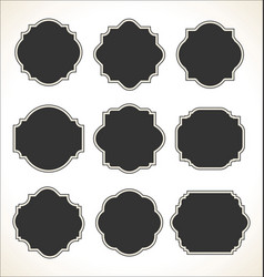 blank frame set isolated on white background vector image