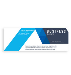 blue design abstract business banner image vector image