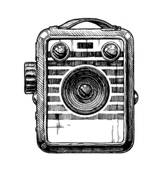 box camera vector image
