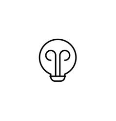 bulb lamp icon vector image