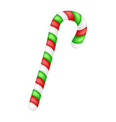 candy cane for christmas design isolated on white vector image