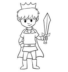 Character of king boy style vector