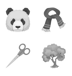 Clothes animal and other monochrome icon in vector