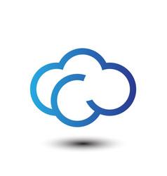 cloud tech business company logo vector image