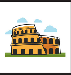 Colosseum historic building vector