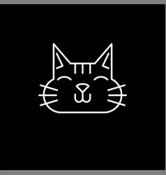 cute cat line icon vector image