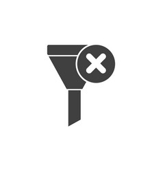 database server funnel vote no icon vector image