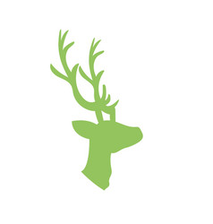 Deer wild animal to natural reserve vector