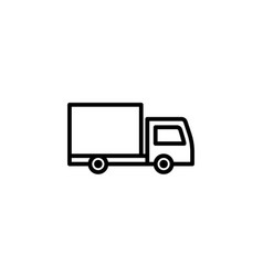 delivery truck icon line style icon vector image