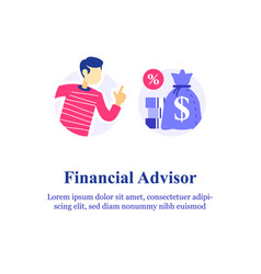 Financial advisory investment advice consulting vector