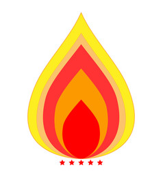 fire icon color fill style vector image