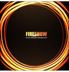 Fire show background vector