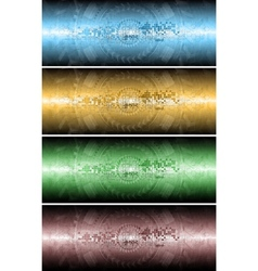 four technical banners vector image