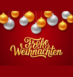 Frohe weihnachten deutsch merry christmas card vector
