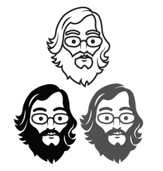 Geek Head vector