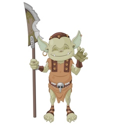 Goblin Warrior vector image