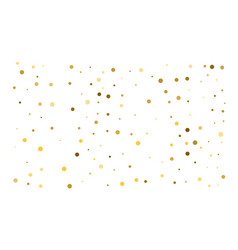golden confetti on white background luxury vector image