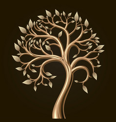 Golden tree foliage vector
