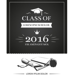 Graduation party invitation card vector