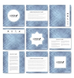 Gray set of square template brochure Business vector