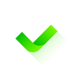 Green check icon vector