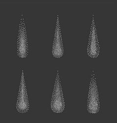 halftone white drops water dots vector image