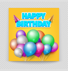 happy birthday greeting card blank paper vector image