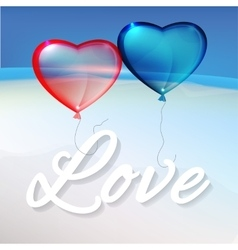 Hearts and Sea vector image