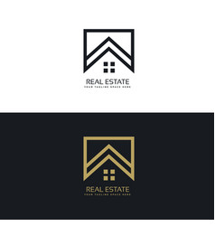 House logo design in creative line style vector