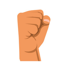 human raised fist symbol of rebellion militance vector image