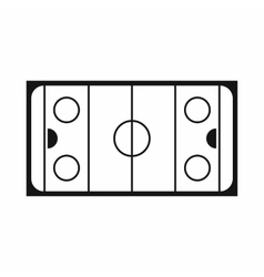 Ice hockey rink icon simple style vector image