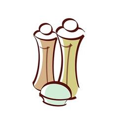 Icon pepper shaker vector