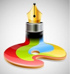 Ink pen as symbol of visual vector