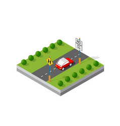 isometric 3d module district vector image