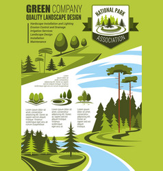Landscape maintenance and horticulture poster vector