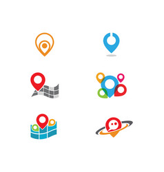 Location point icon logo vector