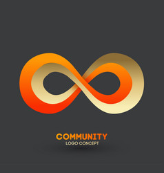 logo connecting people logo design company vector image