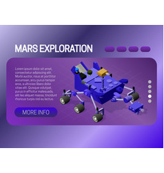 mars exploration banner concept web page header vector image