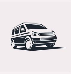 Mini van symbol logo template delivery vector